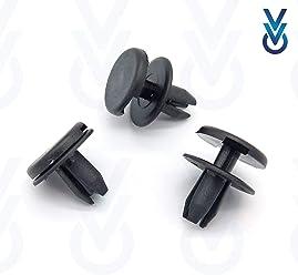 VVO Fasteners Plastic Front Bumper /& Trim Fastener Clips Pack of 10 Black