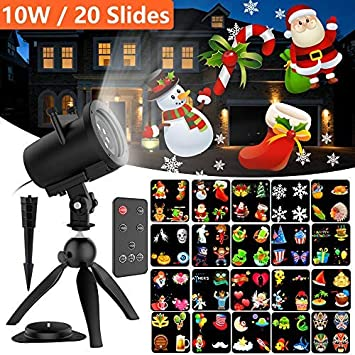 Halloween Elec3 14 Slides Christmas Projector Light Portable Handheld Flashlight with Dynamic and Static Images Birthday Party Decoration Xmas Gift for Kids Easter Holiday Led Projector Light