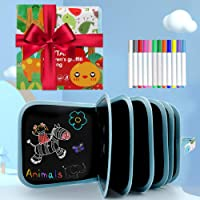 AriTan Portable Erasable Drawing Pad Toys for Kids, Magna Double-Sided Reuse PVC Writing Board, 12 Colored erasable pens…