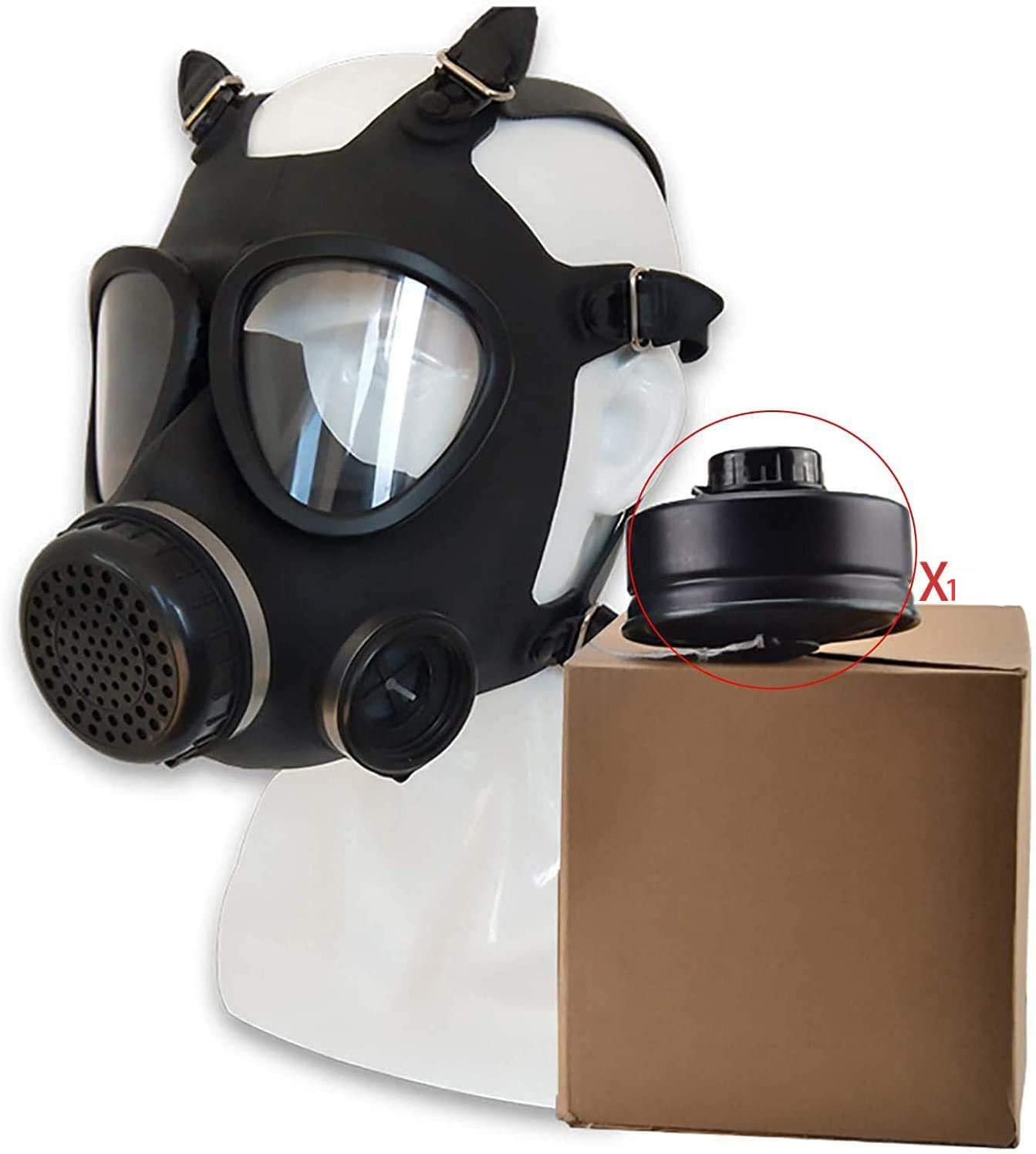 Full Face Gas Mask Respirator Protection With Canister Gas Reusable Widely Used In Organic Gas Paint Spary Chemical Woodworking Dust Amazon Ca Home Kitchen