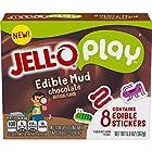 JELLO Chocolate Edible Mud Gelatin Dessert Mix (6oz Box)