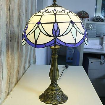 Tiffany lámpara de mesa-lámpara de escritorio hecha a mano ...