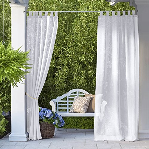 Cheap  RYB HOME Outdoor Sheer for Patio - Outdoor Indoor Decoration Thick Linen..