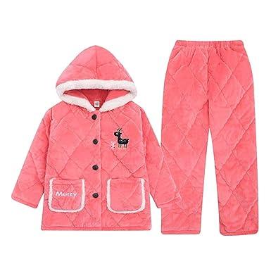 Pijamas Invierno de Invierno Engrosamiento Coral Polar niña ...