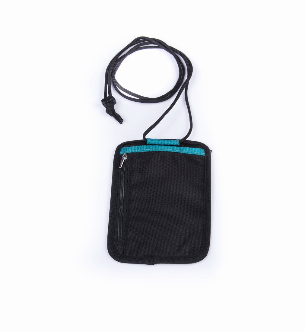 Green, Short Premium Short Single Slice Style 420D Nylon Multi-Function Waterproof Portable Neck Pouch Passport//Document Bag//Card Holder//Cash Money Pocket//Travel Wallet GOX Passport Neck Pouch