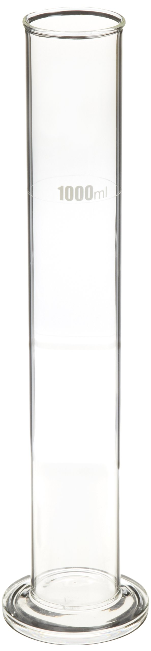 United Scientific HYC1200 Borosilicate Glass Hydrometer Cylinder, 1200ml Capacity