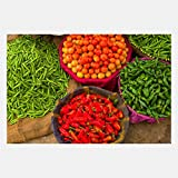 eFrame Fine Art | Vegetables at Street Market Jaipur, India Food Kitchen Art by Blaine Harrington 8'' x 12'' Print Wall Art for Wall or Home Decor (Black, Brown, White Frame or No Frame)