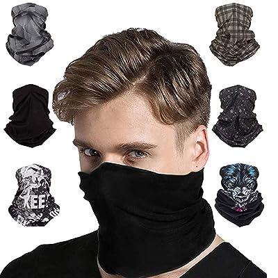 Multifunctional Balaclava for Face Shield Dust Wind UV Sun Protection Neck Gaiter Headwear Bandana Face Scarf 6 PCS/Set Grey at Women's Clothing store [5Bkhe0505218]