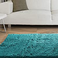 Bedford Home High Pile Shag Rug Carpet, 21 x 36, Seafoam