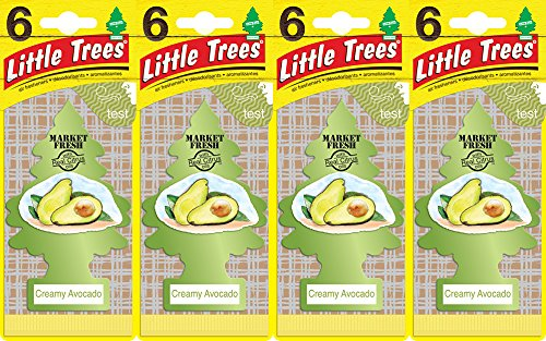 Little Trees Creamy Avocado Air Freshener, (Pack of 24) by Little Trees