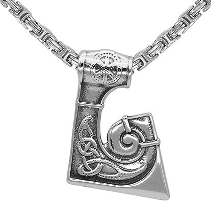 Viking Dragon Axe Stainless Steel Pendant Only