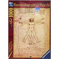 Ravensburger, Rompecabezas El Hombre de Vitruvio, Leonardo Da Vinci, 1000 Piezas