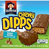 Quaker Chewy Dipps Granola Bars, Peanut Butter, 6 ct