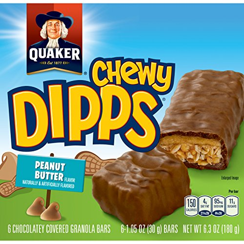 Chewy Granola Bar Calories (Quaker Chewy Dipps Granola Bars, Peanut Butter, 6 ct)
