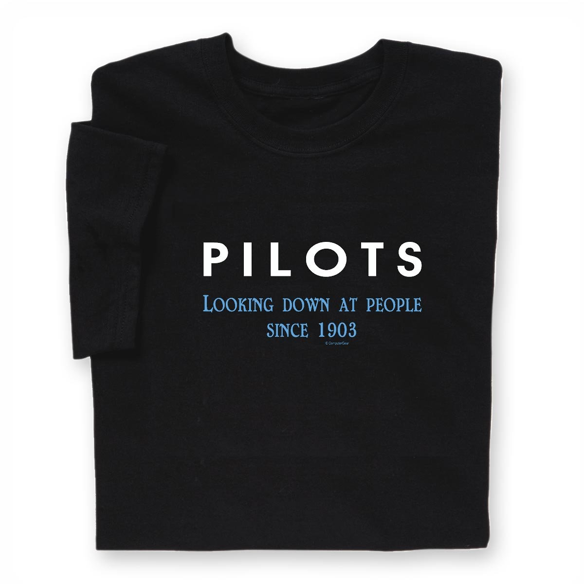 202c07466d Amazon.com: ComputerGear Funny Pilot T Shirt Airplane Flying Pilots Looking  Down Unisex: Clothing