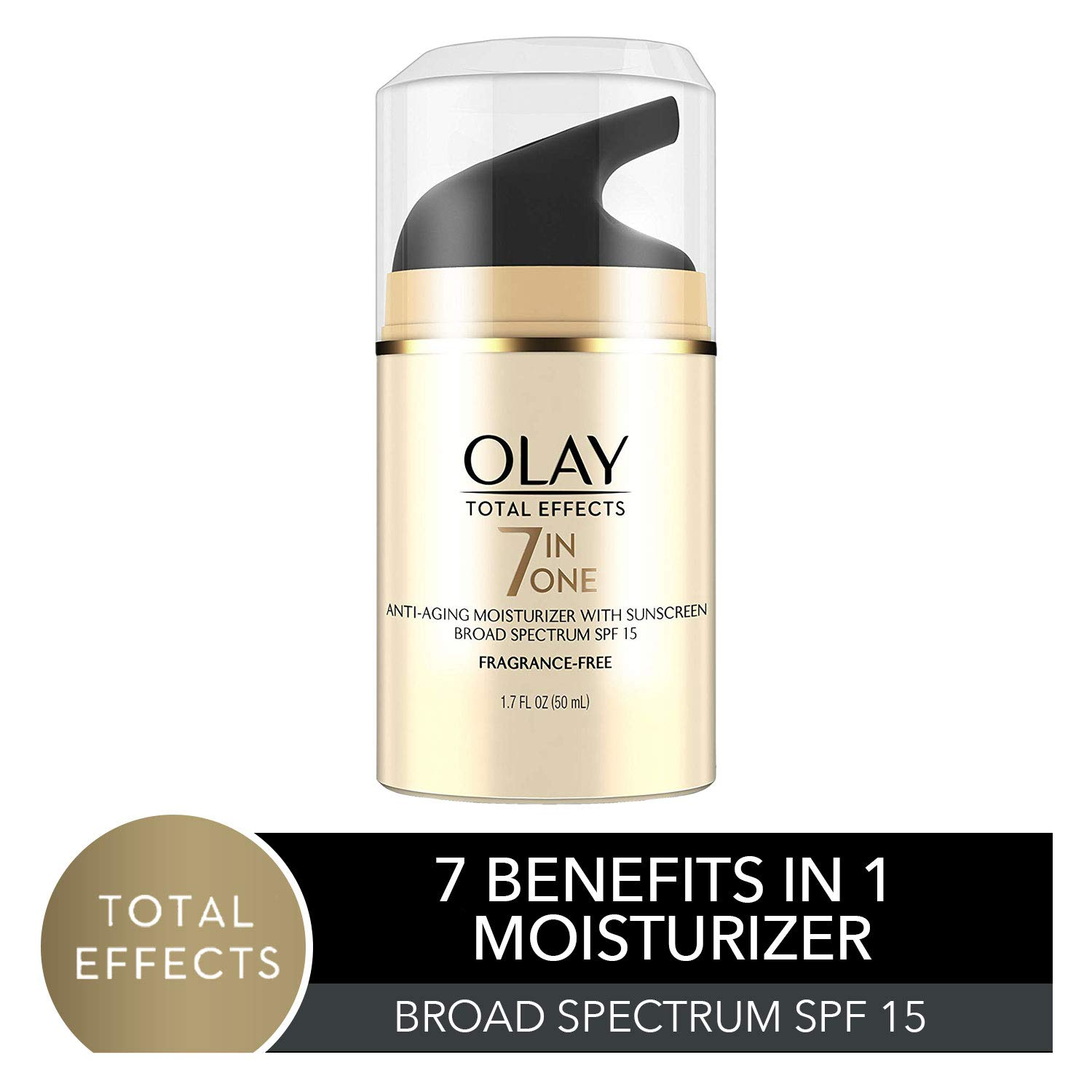 Face Moisturizer by Olay Total Effects Anti-Aging Face Moisturizer with SPF 15, Fragrance-Free 1.7 fl oz by Olay
