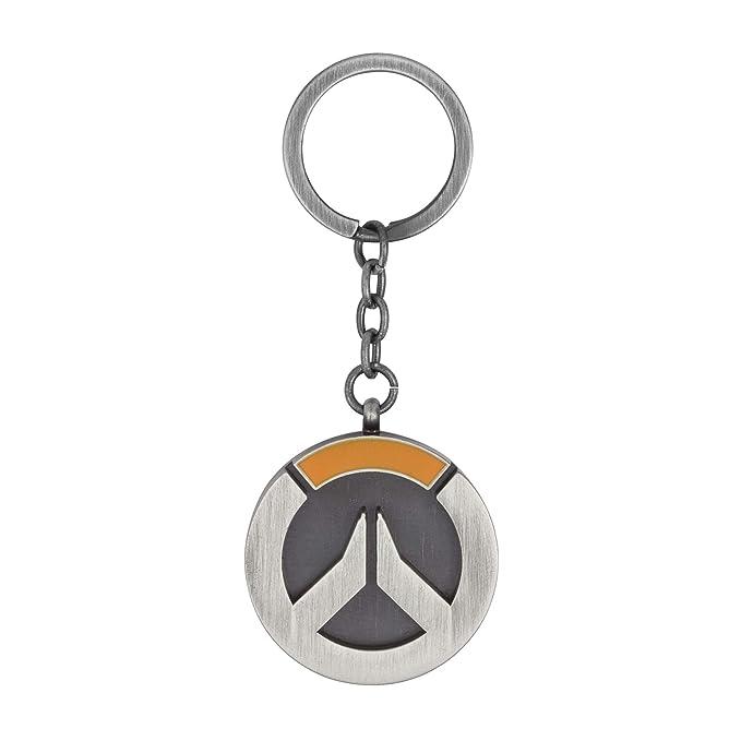 Amazon.com: Overwatch Logo Llavero, talla única , Plateado ...