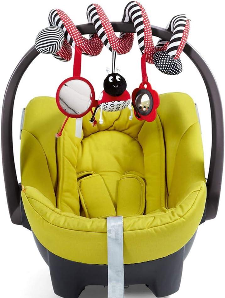 Coccinella letto sospeso Culle giocattolo sveglio della peluche spirale di attivit/à multi-funzione Stroller Peluches Rattle regalo Hanging