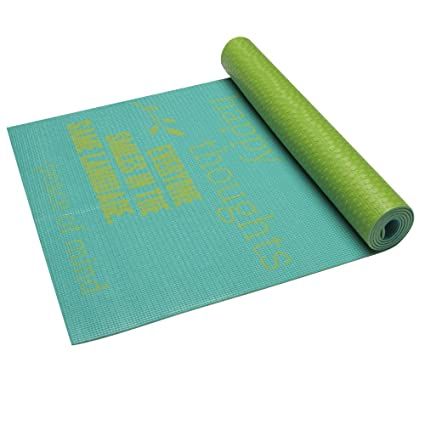 Amazon.com: Gaiam – ser inspirado Print Estera de Yoga (4 mm ...
