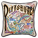 PITTSBURGH HAND EMBROIDERED PILLOW - CATSTUDIO