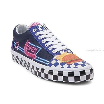 2fad3e6dea43 Vans Old Skool 11 Women   9.5 Men Custom Culture Mlt True White Fashion  Sneaker  Amazon.co.uk  Shoes   Bags