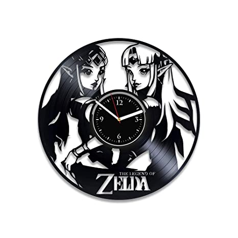 Amazon com: Clock Legend Of Zelda Wall Art Zelda Vinyl Wall