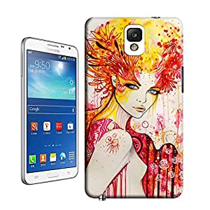 BreathePattern-388.A-Beautiful-Woman Plastic Protective Case-Samsung Galaxy note3 case