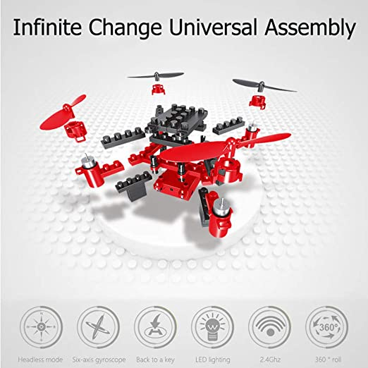 JJR/C Mini Bloques De Construcción De Bricolaje Drone RC ...