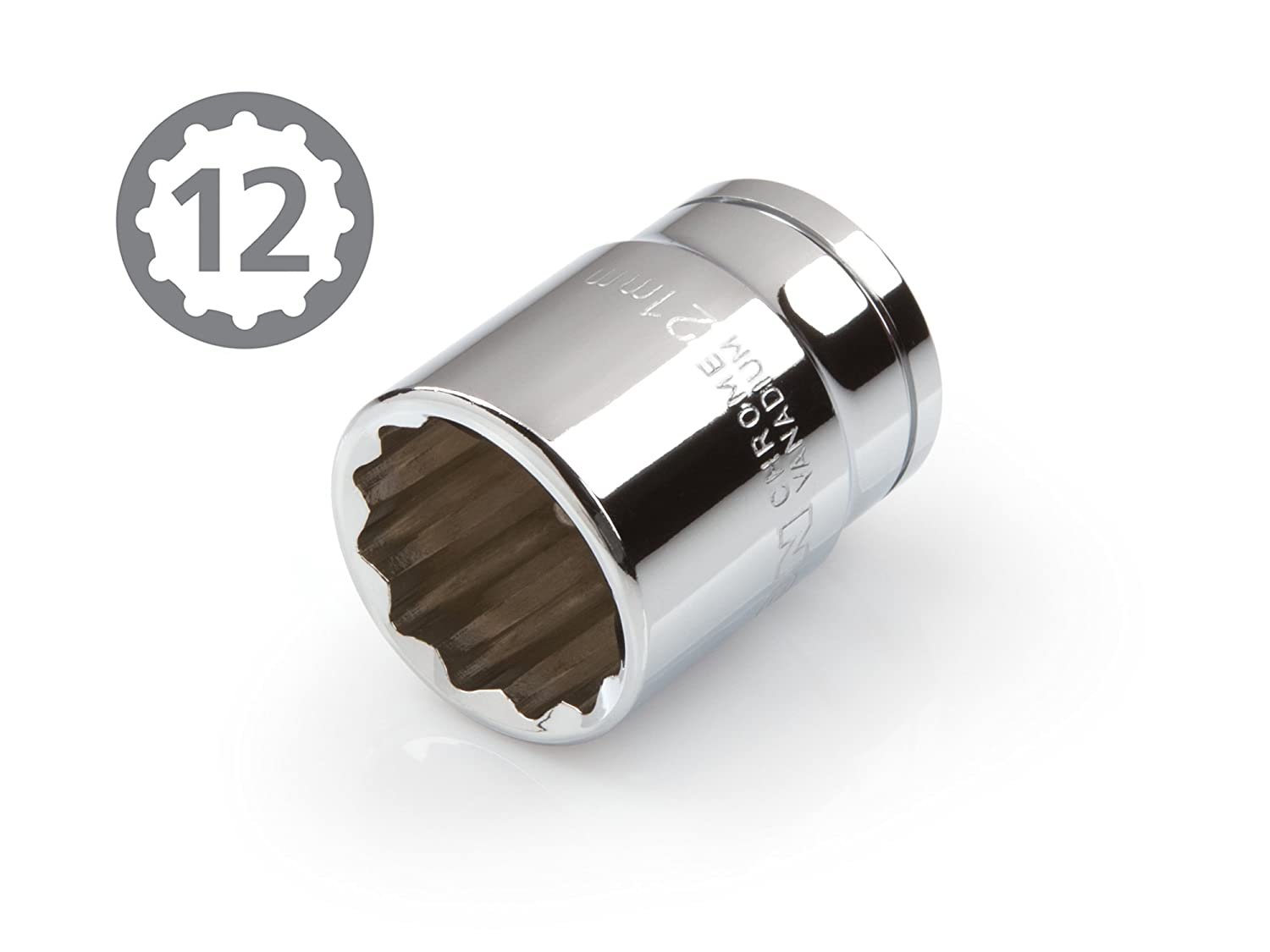 Cr-V TEKTON 14164 3//8-Inch Drive by 8 mm Shallow Socket 12-Point