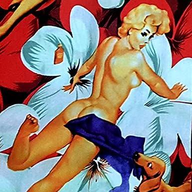 "red Blue and Black Pin-Up Girl 8XL S Mens Hawaiian Shirt /""Flower Girls/"" 100/% Cotton"