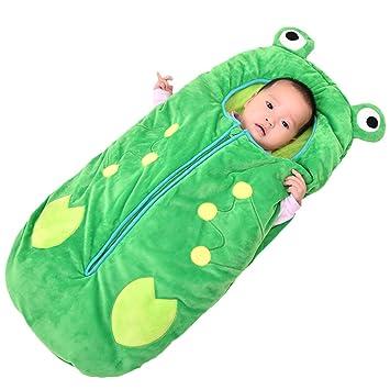 WUYEA Bebé recién Nacido Wrap Swaddle Manta Bebé Saco de Dormir Anti-Kick Manta Envuelta en algodón para 0-3 años,M: Amazon.es: Hogar