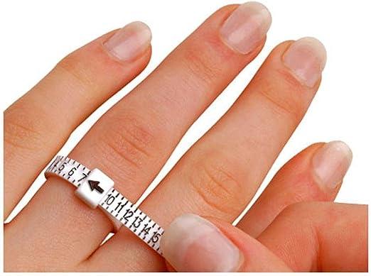 Rungao - Medidor de dedo para anillos, tipo regla, herramienta de ...