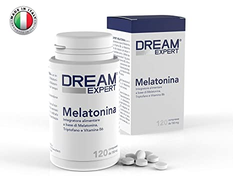 Dream Expert - 120 tabletas - Suplemento con Melatonina (1 mg) + Triptófano (