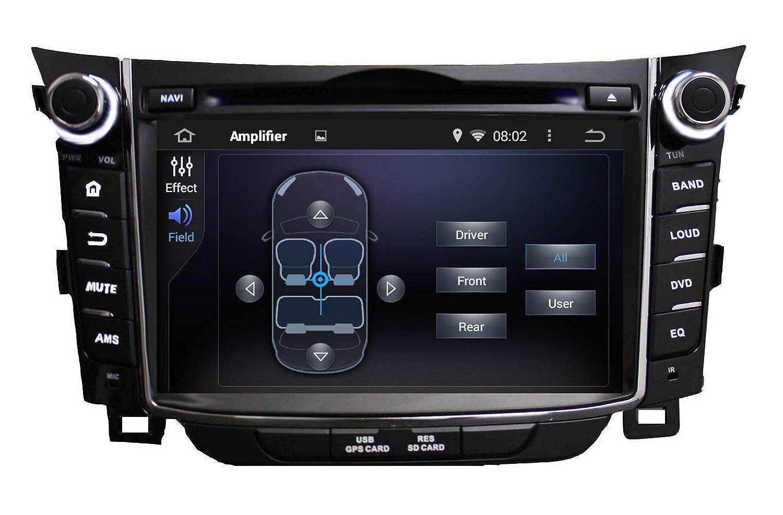 Android 6.0 Octa Core 1024 * 600 coche reproductor de DVD GPS navegación Multimedia estéreo coche para Hyundai i30 2011 2012 2013 2014 Radio Control de ...