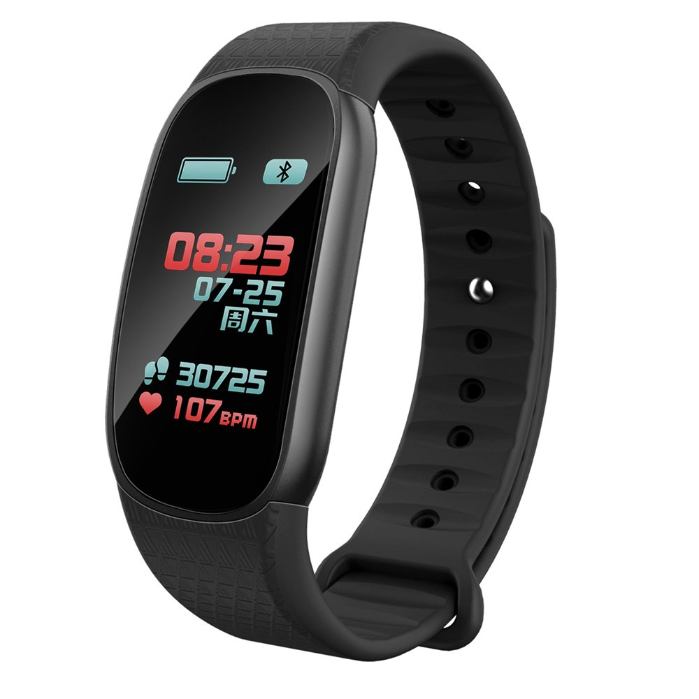 CESSBO X9S Colorful Screen Healthy Smart Fitness Tracker Heart Rate Care Smart Bracelet for Andriod ios PK Miband Smart Wristband (Black)