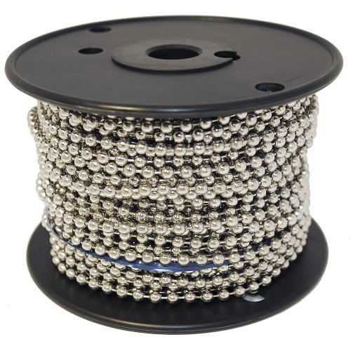 Ball Chain Number 10 Spool Nickel Plated Steel 100 Feet