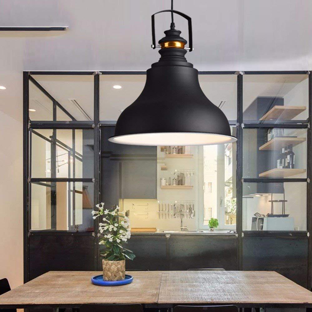 GUO Gzz Deng Home Outdoor Lighting Pendant Light Shade Industrial Hanging Ceiling Lamp Chandelier Iron Loft 36X38Cm Living Room Restaurant Bedroom Lighting