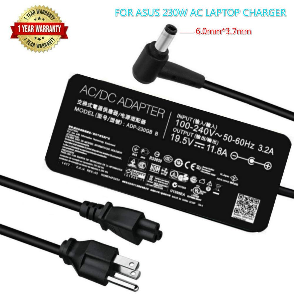 New Slim 19.5 V 11.8A 230W Laptop Charger for Asus ADP-230GB B ROG Zephyrus GX501 GX501V GX501VI GX501VI-XS75 GX501VI-XS74 GX501VI-GZ027T Ac Power Adapter