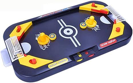 Mini mesa de billar juego juguete, mamum miniatura mesa de hockey juego juguete para niños 2 en 1 Fútbol y hielo sobremesa Campo: Amazon.es: Grandes electrodomésticos