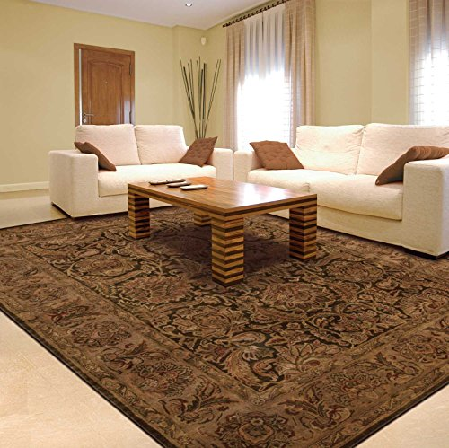 (Nourison Jaipur (JA30) Brown Rectangle Area Rug, 5-Feet 6-Inches by 8-Feet 6-Inches (5'6