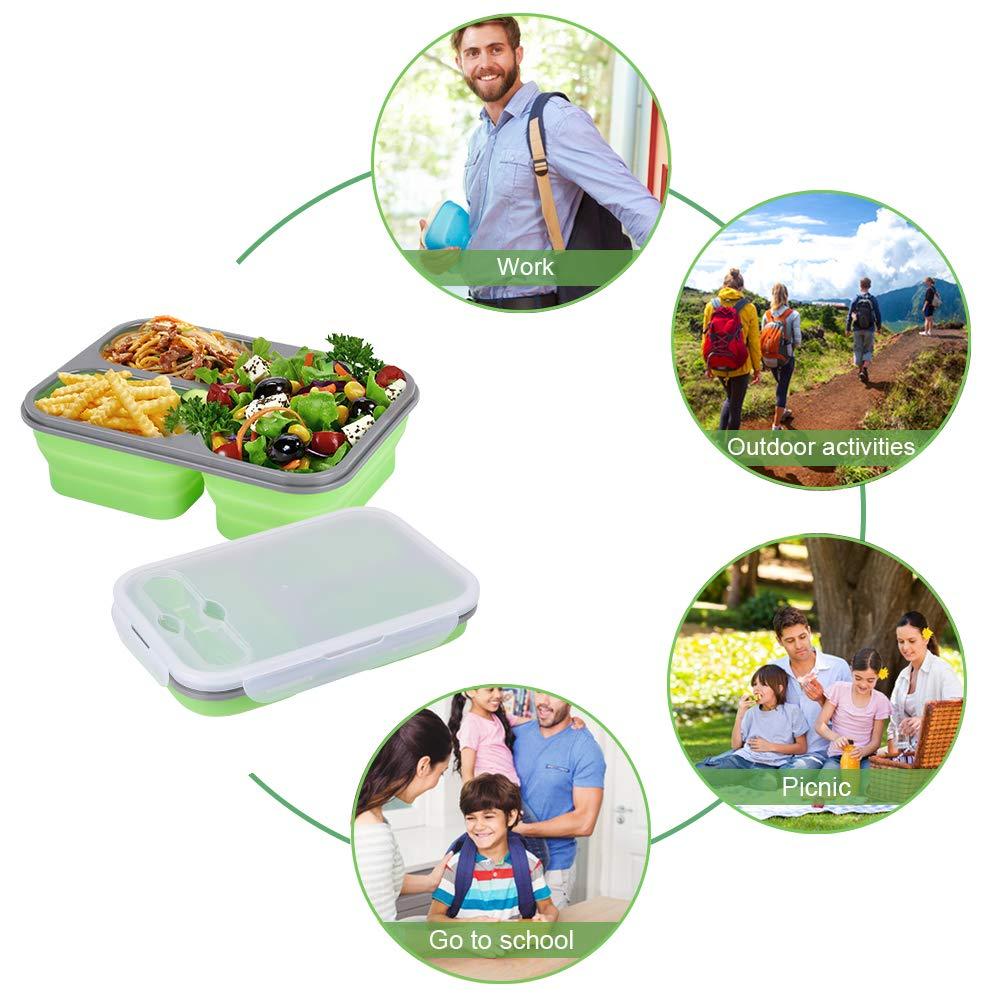 Jean-Patrique Contenedores de Silicona para Almacenamiento de Alimentos Set de 4