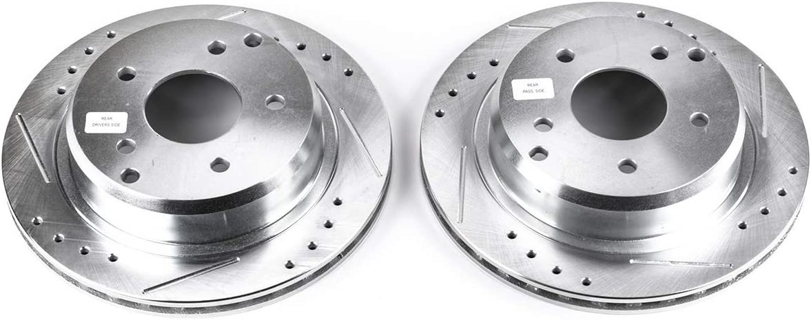 Power Stop AR8221XPR Rear Evolution Drilled /& Slotted Rotor Pair