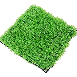 Artificial Aquarium Fish Tank Plastic Green Grass Lawn Decoration Ornament New