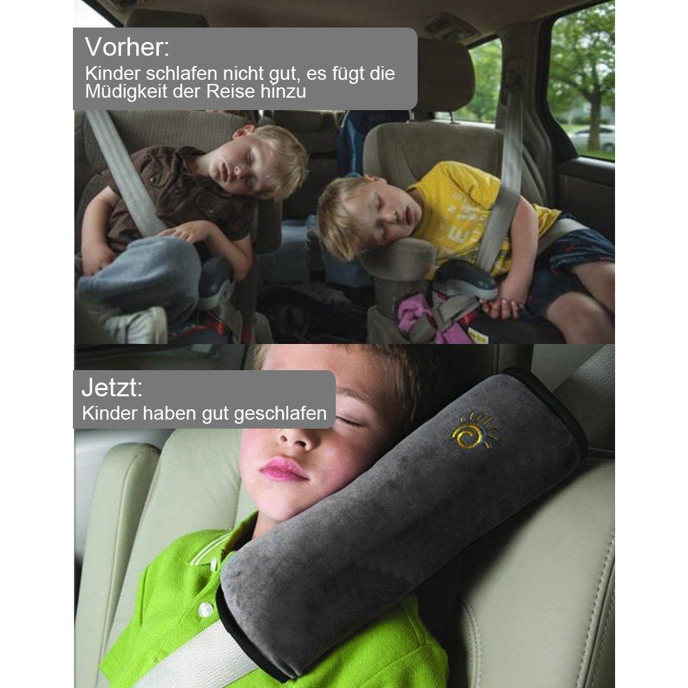 Rovtop 3 Packs Auto Sicherheitsgurt Schulterpolster Gürtelkissen Schutzkissen Abnehmbar Und Waschbar Reisekissen Bequeme Gürteltaschen Baby