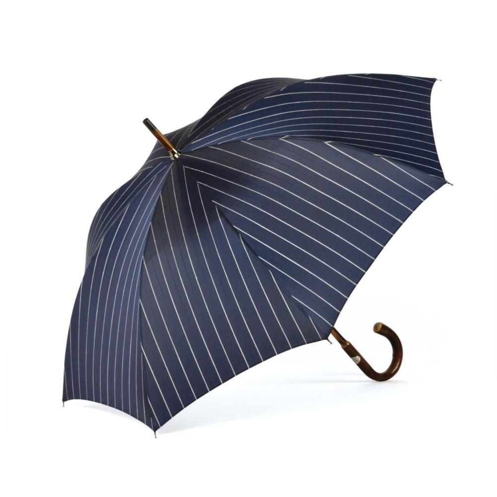 ShedRain Umbrellas Ombrelli Italian Stick Umbrella, Navy Wide Stripe
