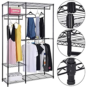 Amazon Com Homdox 3 Shelves Wire Shelving Clothing