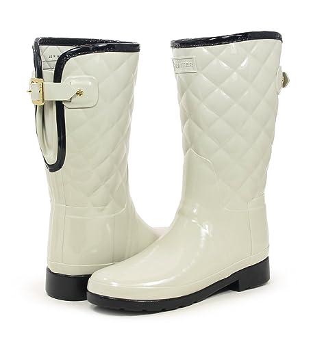 52ba407bb351 Hunter Original Refined High Gloss Quilted Parchment Short Rain Boot ...