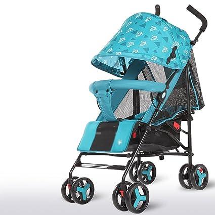 &Carrito de bebé Cochecito de bebé Bolsillos pequeños ultraligeros Los carritos para niños se pueden sentar