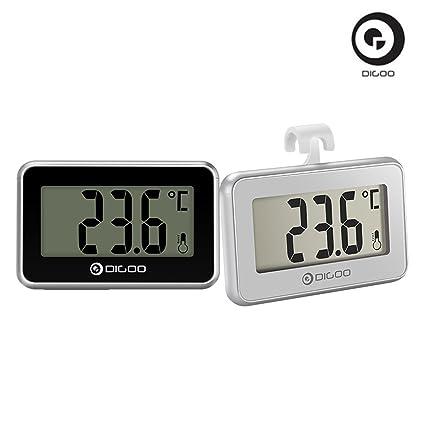 DIGOO 2X DG-TH 1100 Termómetro Digital LCD, termómetro Interior, Monitor de Temperatura