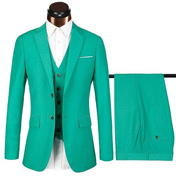 Traje Verde para Hombre, 3 Piezas, Corte Ajustado, Trajes de ...